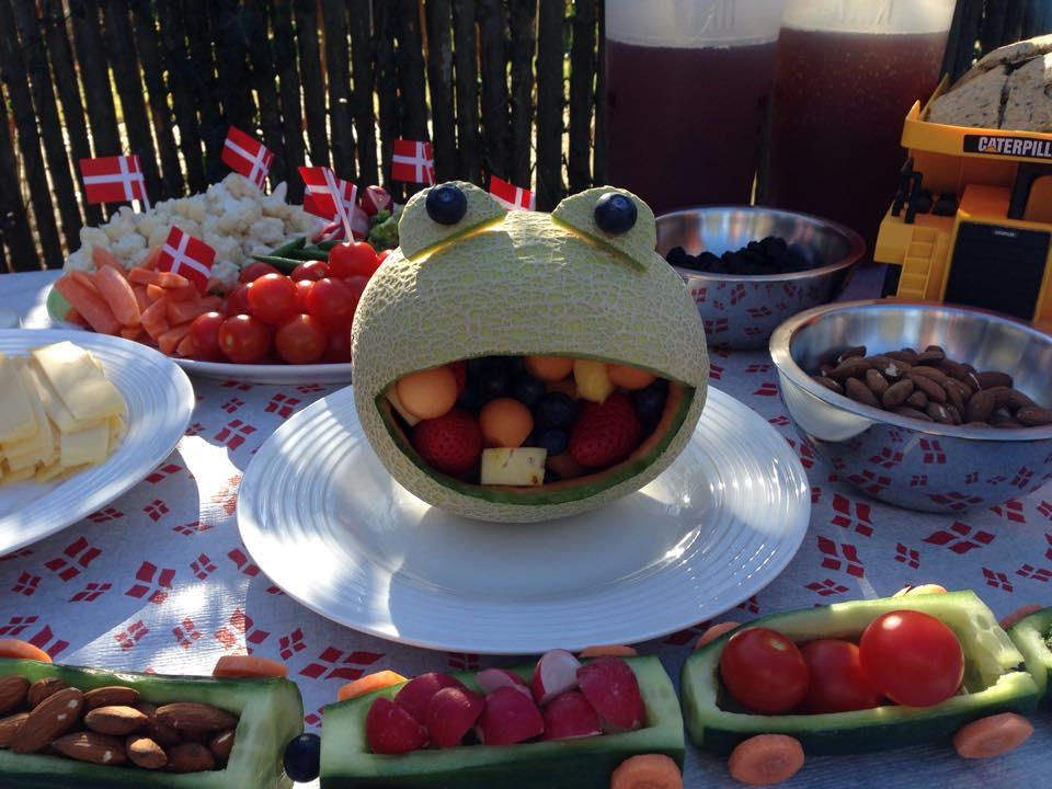 Frugtkreationer Frugtfrø Børnefødselsdag