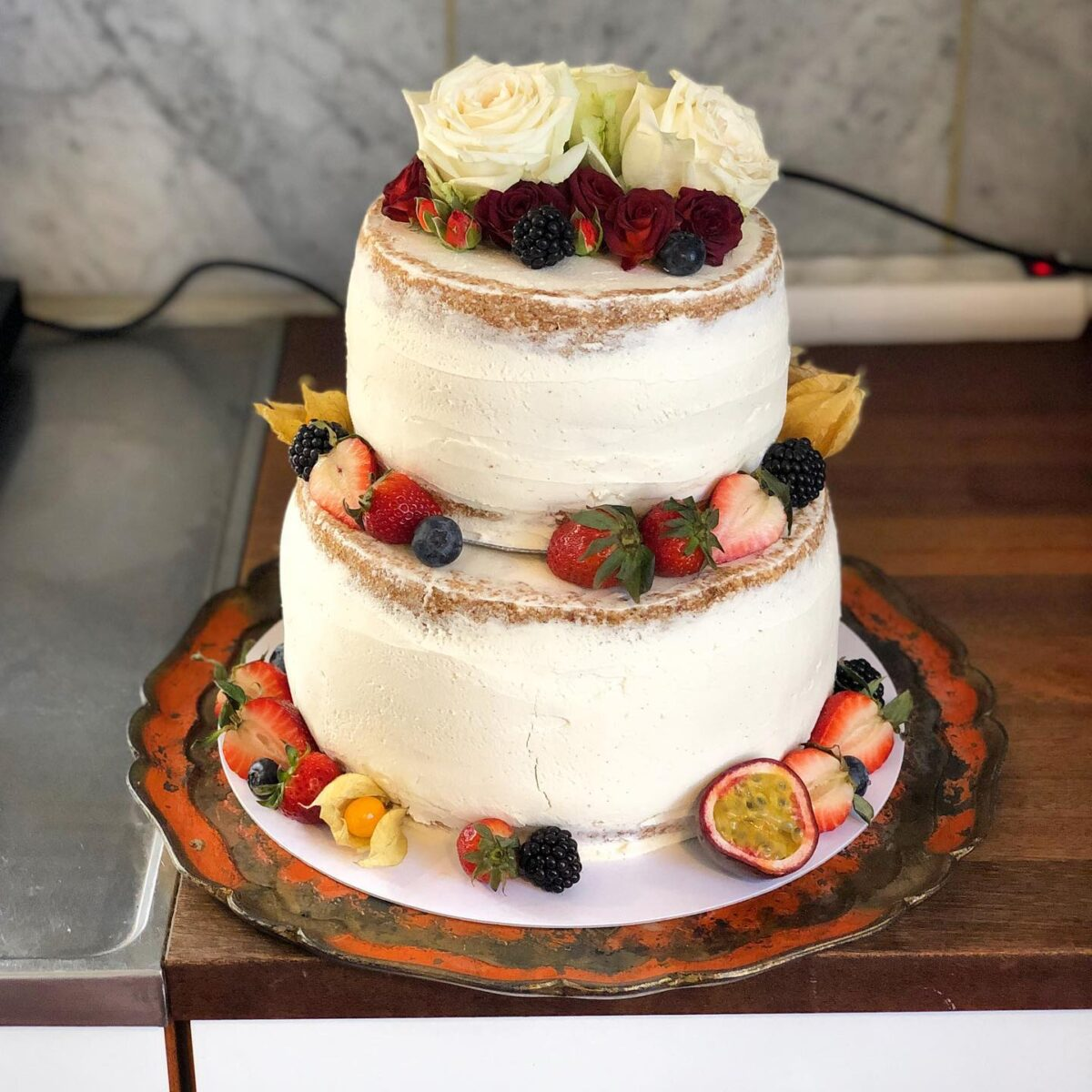 Bryllupskage Naked Cake