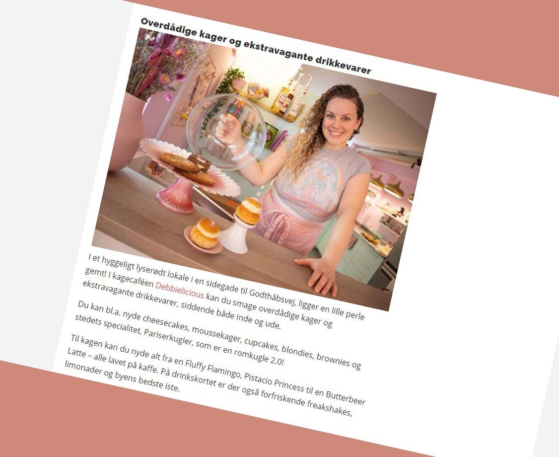 Presse billede om Debbielicious fra Alt for damerne - alt.dk