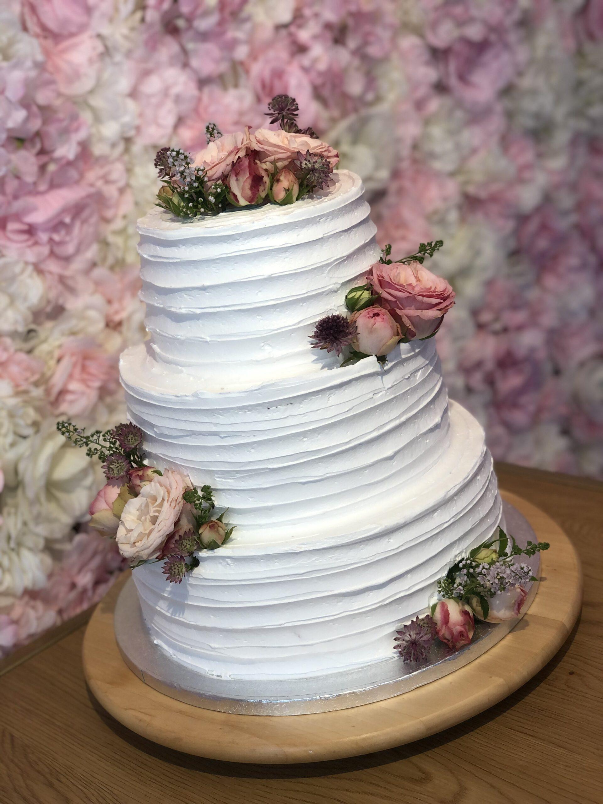 Bryllupskage Etagekage Stakket kage